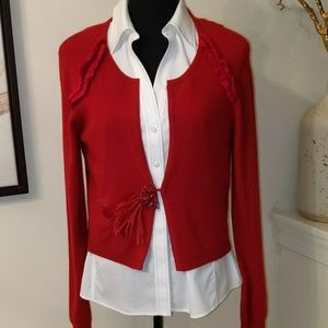 💯% Cashmere Feather Sweater Shrug.